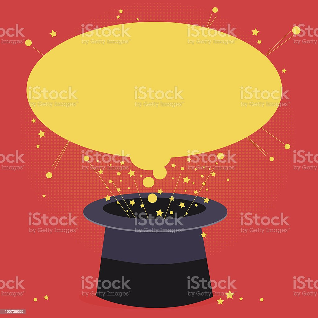 Magical Hat with Copy Space vector art illustration