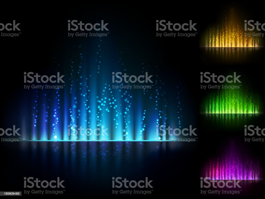 Magical light background in four different colors royalty-free magical light background in four different colors stock vector art & more images of abstract