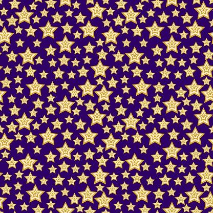 Magical star sky seamless pattern vector