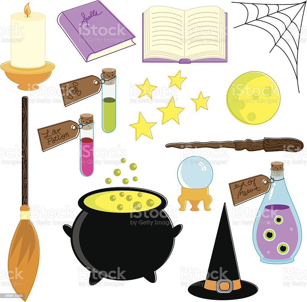 Magical Supplies royalty-free magical supplies stock vector art & more images of book