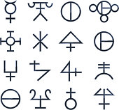 Magical Symbols Esoteric Magic vector illustration.
