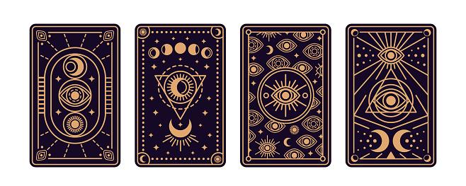 Magical tarot cards