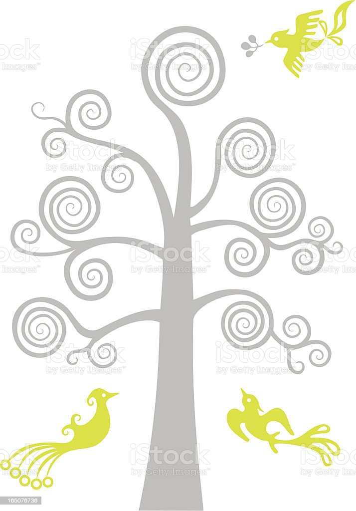 Magical Tree & Birdies royalty-free magical tree birdies stock vector art & more images of abstract