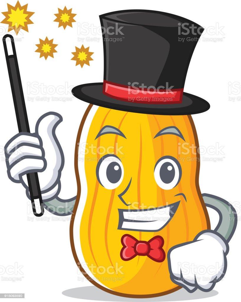 Dessin anim mascotte de courge butternut au magicien vecteurs libres de droits et plus d - Dessin courge ...