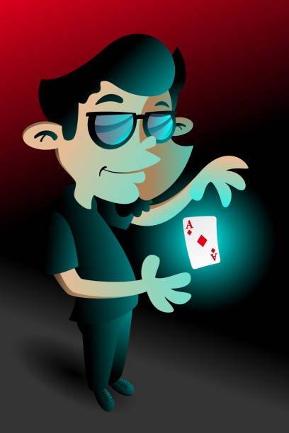 Magician vector art illustration