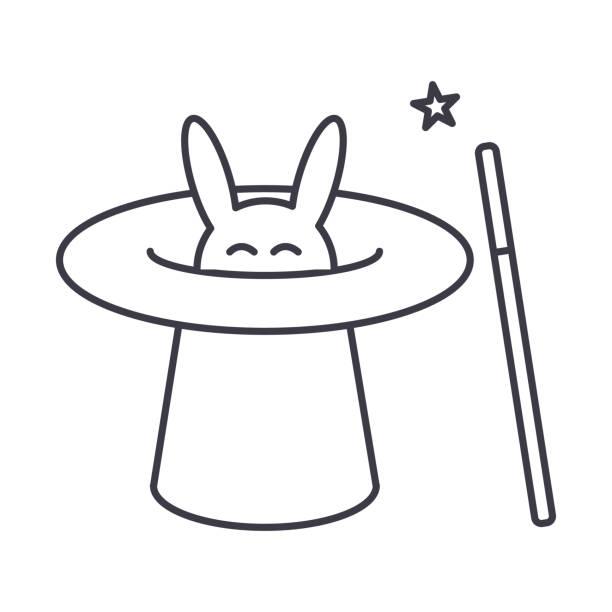 Royalty Free Magicians Hat Bunny White Rabbit Clip Art