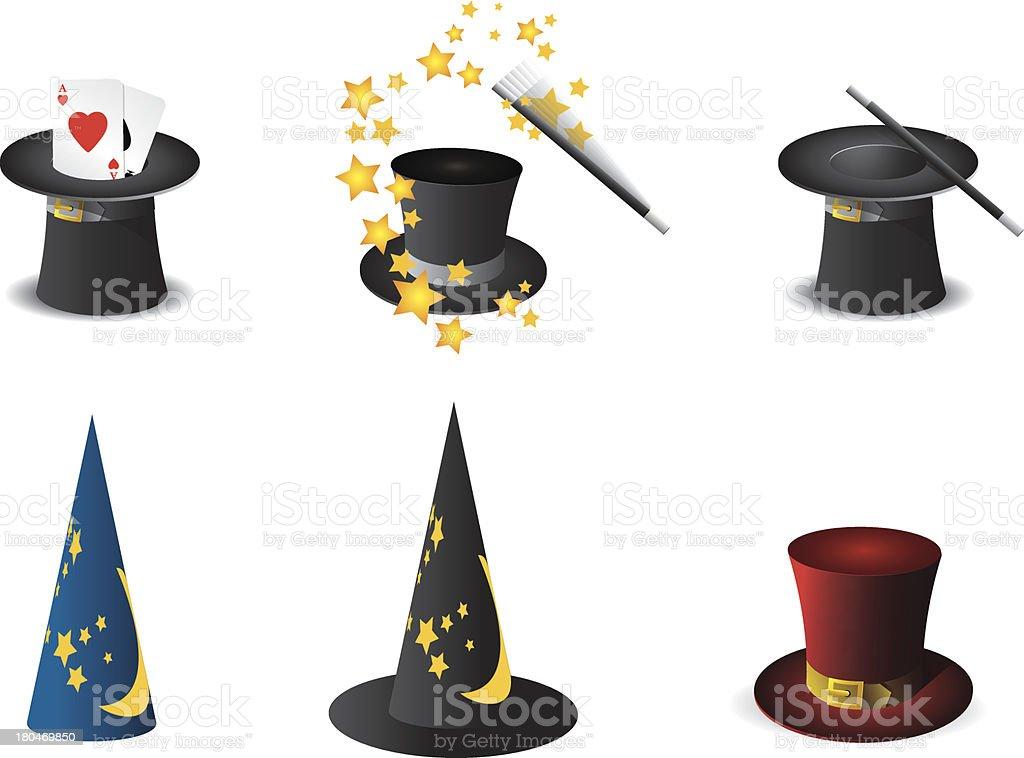 Magician's hat vector art illustration