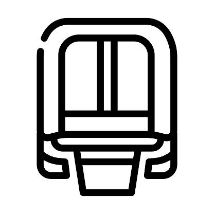 maglev modern train railway line icon vector illustration
