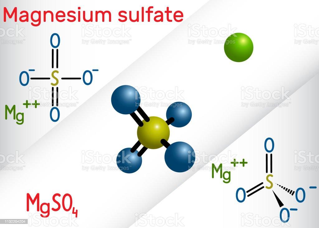 Magnesiumsulfatmolekül Es Ist Ein Anorganisches Salz Und