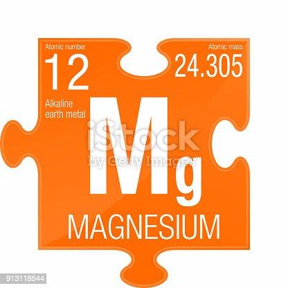 Magnesium symbol element number 12 of the periodic table of the magnesium symbol element number 12 of the periodic table of the elements chemistry stock vector art more images of atom 913118544 istock urtaz Images