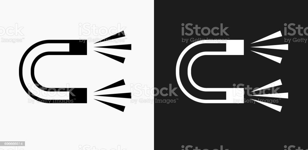 Magnetsymbol Auf Schwarzweißvektorhintergründe Stock Vektor Art und ...