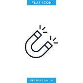 istock Magnet Icon Vector Stock Illustration Design Template. 1279213829