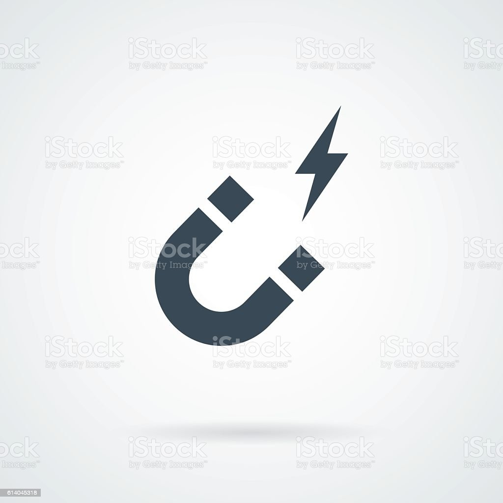 Magnet icon vector royalty-free stock vector art