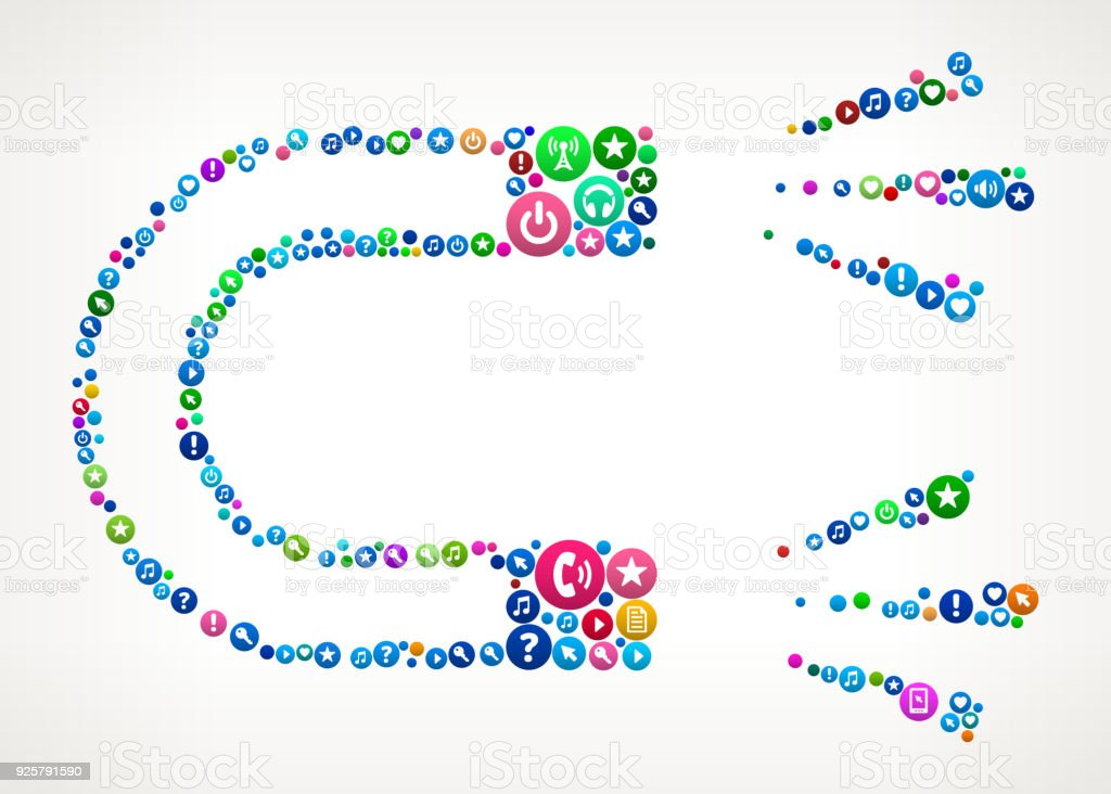 Magnet Internet Communication Technology Icon Pattern Stock