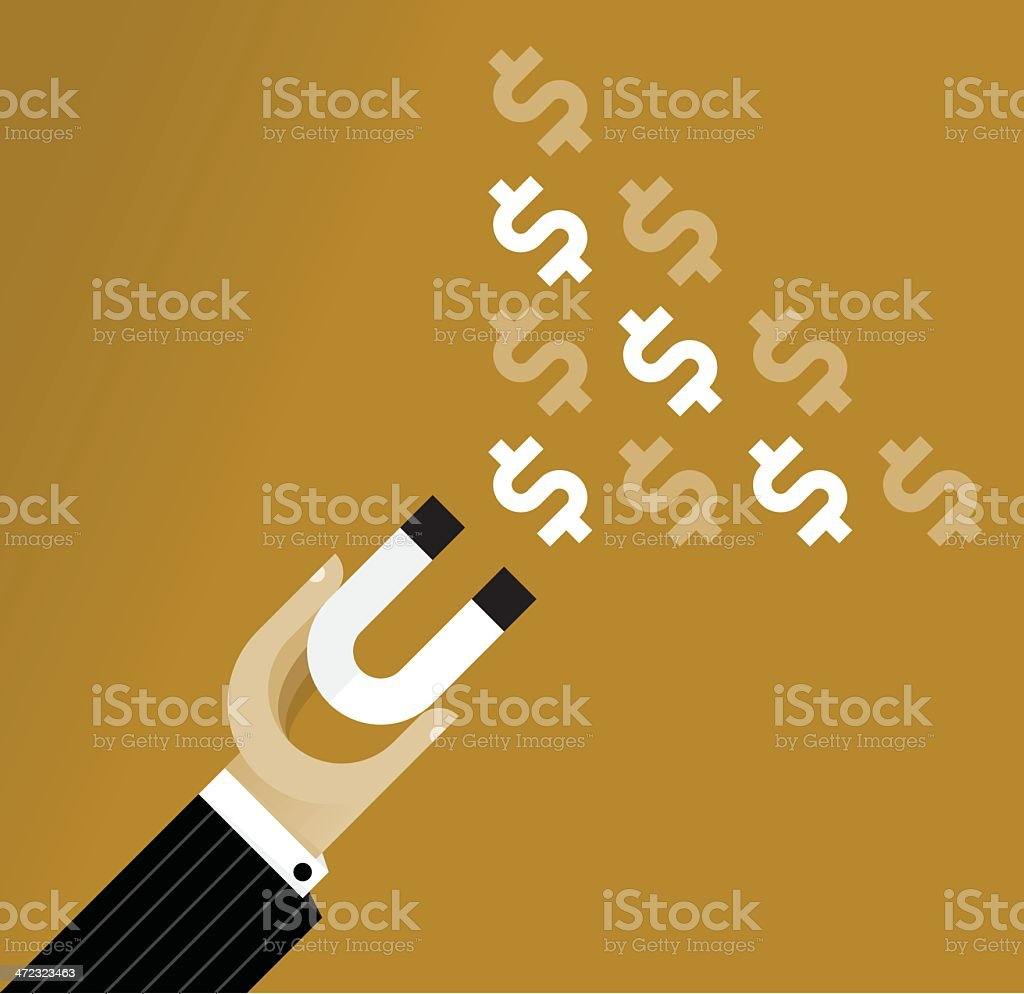 Magnet of Business Success royalty-free stock vector art