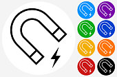 istock Magnet with Electricity Power Icon 1250280318