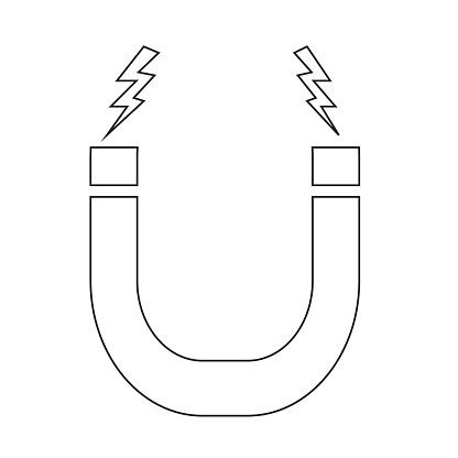 Magnetic Icon symbol Illustration design