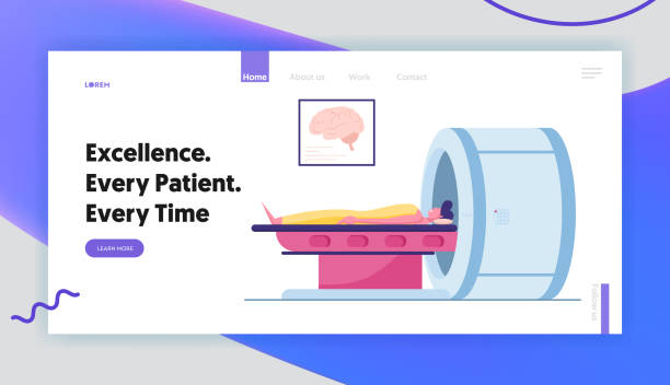 Magnetic Resonance Imaging Digital Technology in Medicine Diagnostic Website Landing Page. Medical Health Care, Patient Lying at Mri Scanner in Clinic Web Page Banner. Cartoon Flat Vector Illustration Magnetic Resonance Imaging Digital Technology in Medicine Diagnostic Website Landing Page. Medical Health Care, Patient Lying at Mri Scanner in Clinic Web Page Banner. Cartoon Flat Vector Illustration scientific imaging technique stock illustrations