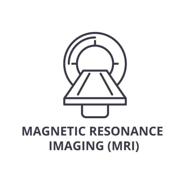 magnetic resonance imaging (mri) thin line icon, sign, symbol, illustation, linear concept, vector magnetic resonance imaging (mri) thin line icon, sign, symbol, illustation, linear concept vector radiology stock illustrations