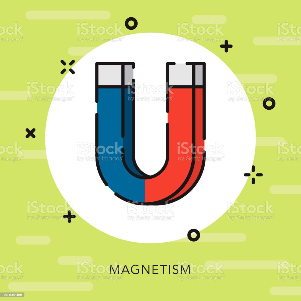 Ilustración de Icono De Ciencia Magnetismo Contorno Abierto y más ...