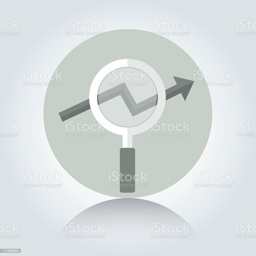 magnifier and arrow icon vector stock vector art more images of