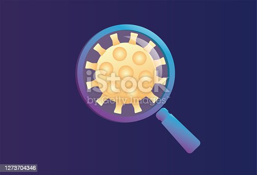 istock Magnifier and virus 1273704346
