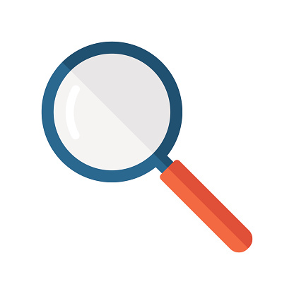 Magnifier Flat Icon - Vector Illustration