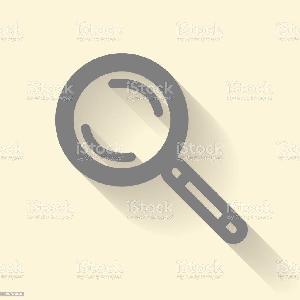 Magnifier icon royalty-free stock vector art