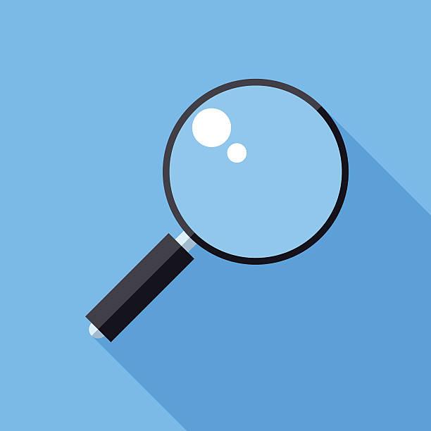 lupe-symbol - lupe stock-grafiken, -clipart, -cartoons und -symbole