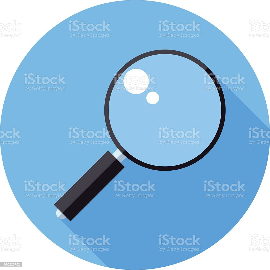 Magnifier icon vector art illustration