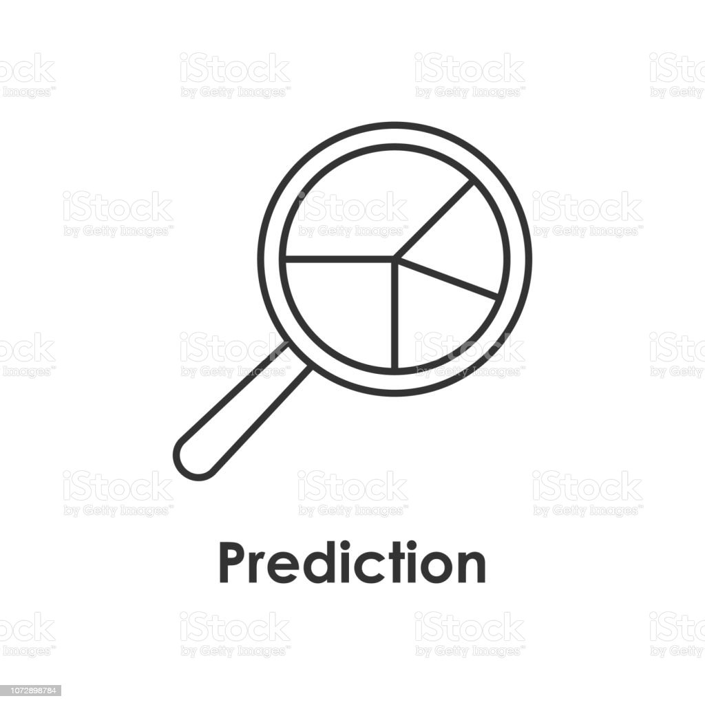 Magnifier Search Prediction Icon With Name Stock Illustration