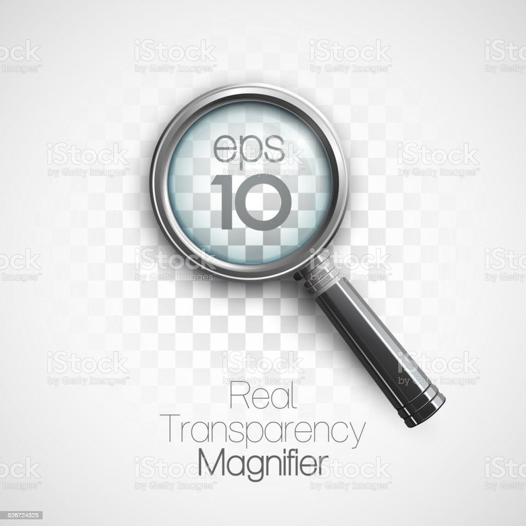 Magnifier. Vector illustration vector art illustration