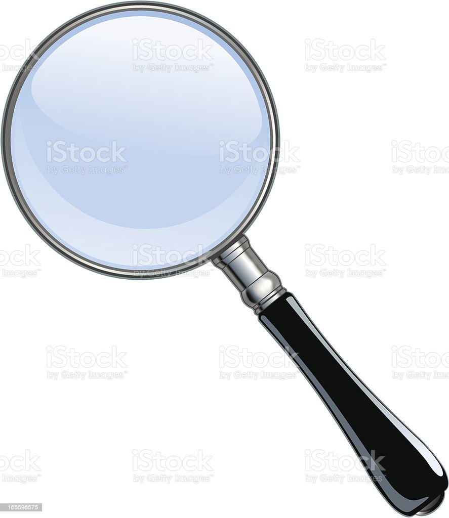 Magnifying Glass 2 royalty-free magnifying glass 2 stock vector art & more images of black color