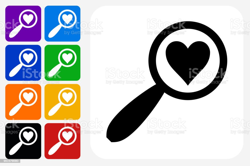 dating site with blue heart icon