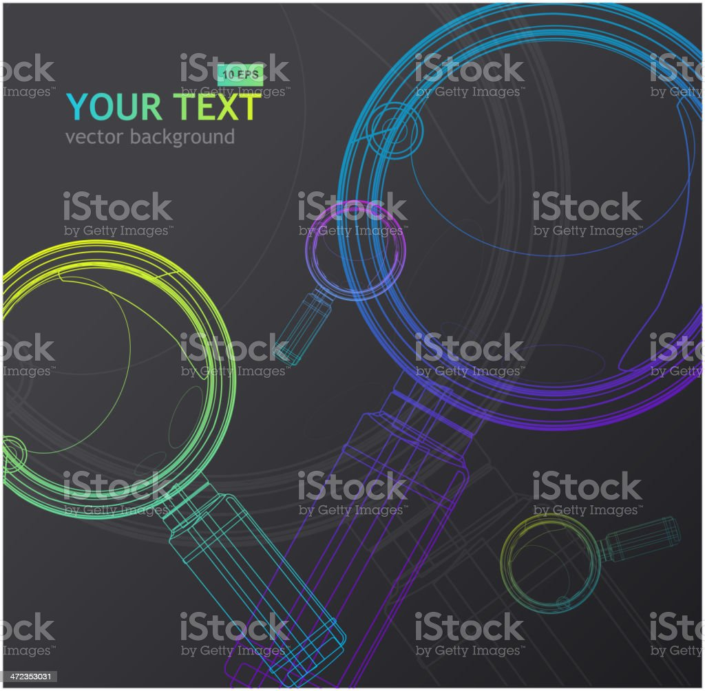 Magnifying glass background royalty-free stock vector art