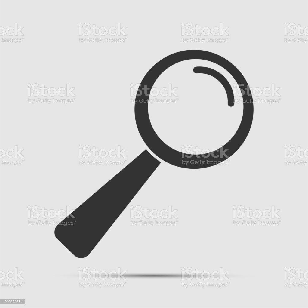 Magnifying glass black icon on white background.vector illustration vector art illustration