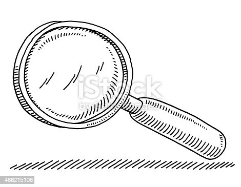 istock Magnifying Glass Drawing 466215106