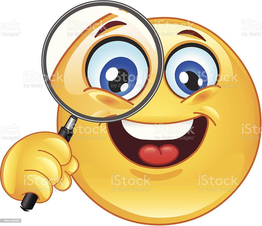 Lente di ingrandimento emoticon immagini vettoriali - Specchio con lente di ingrandimento ...