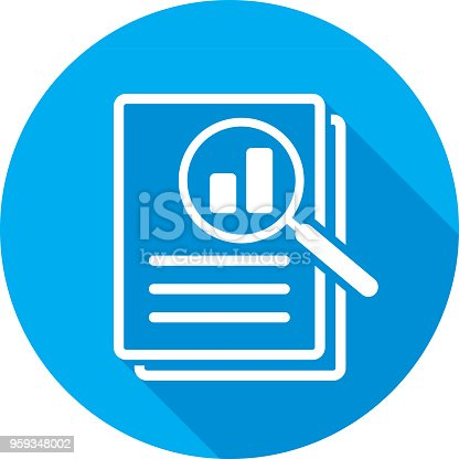 istock Magnifying Glass Files Icon Silhouette 959348002