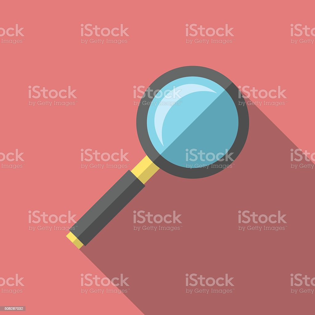 Magnifying glass, flat style vector art illustration