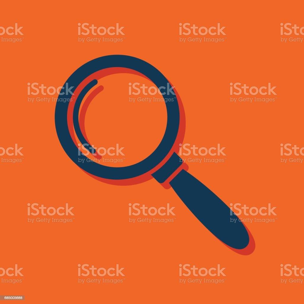 Lupe für Suche oder Inspektion Vektor-flach-icon Lizenzfreies lupe für suche oder inspektion vektorflachicon stock vektor art und mehr bilder von akademisches lernen