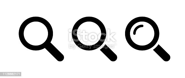 istock Magnifying glass icon 1128882171