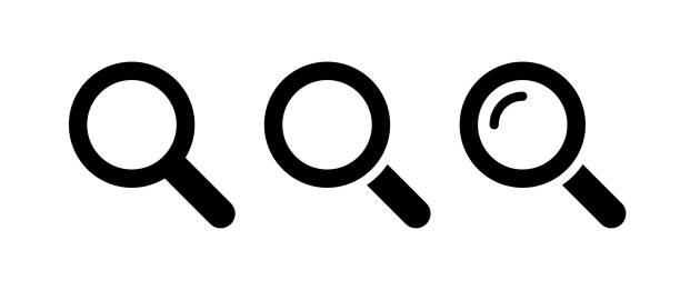 lupen-symbol - sucht stock-grafiken, -clipart, -cartoons und -symbole
