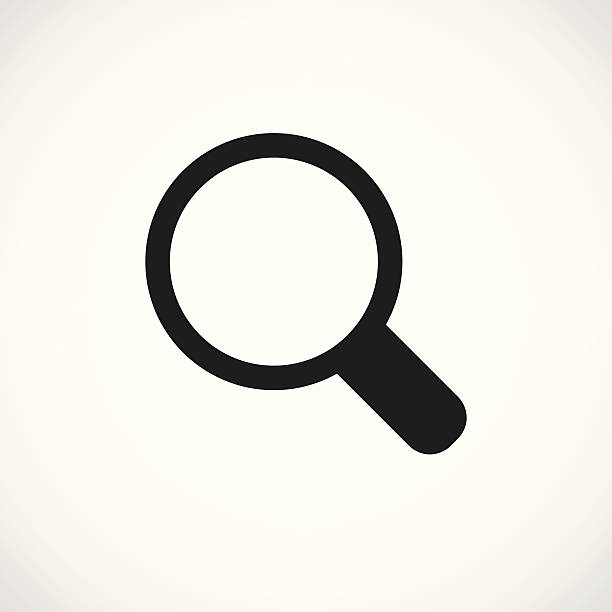 Magnifying Glass icon A single, simple, black icon for personal and professional projects. zoom effect stock illustrations