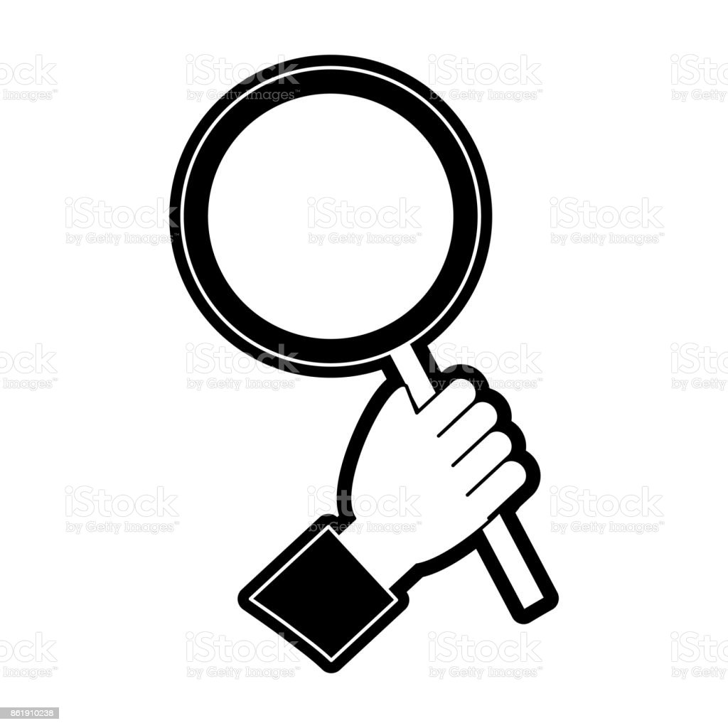 magnifying glass icon stock vector art   more images of magnifying glass vector file magnifying glass vector file