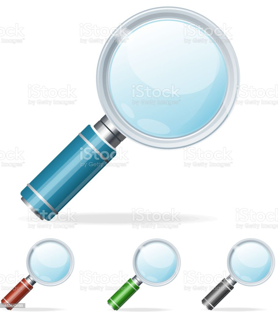 Magnifying glass icons royalty-free magnifying glass icons stock vector art & more images of blue