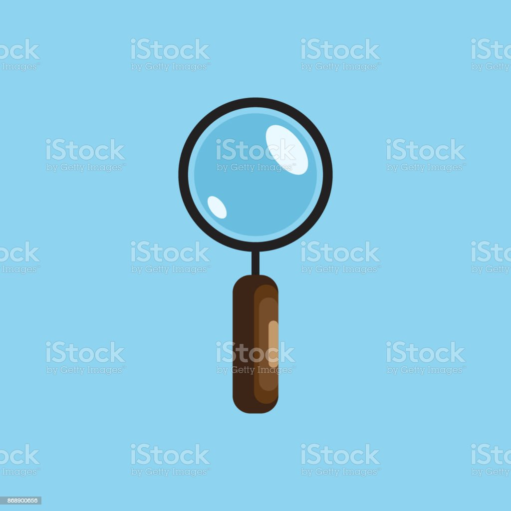 magnifying glass isolated icon vector art illustration