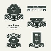 magnifying glass Label And Ribbon black color