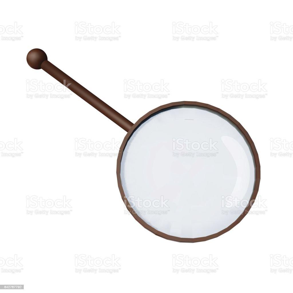 Magnifying glass. Loupe on white background. vector art illustration