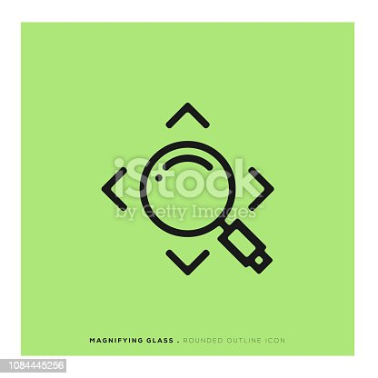 istock Magnifying Glass Rounded Line Icon 1084445256